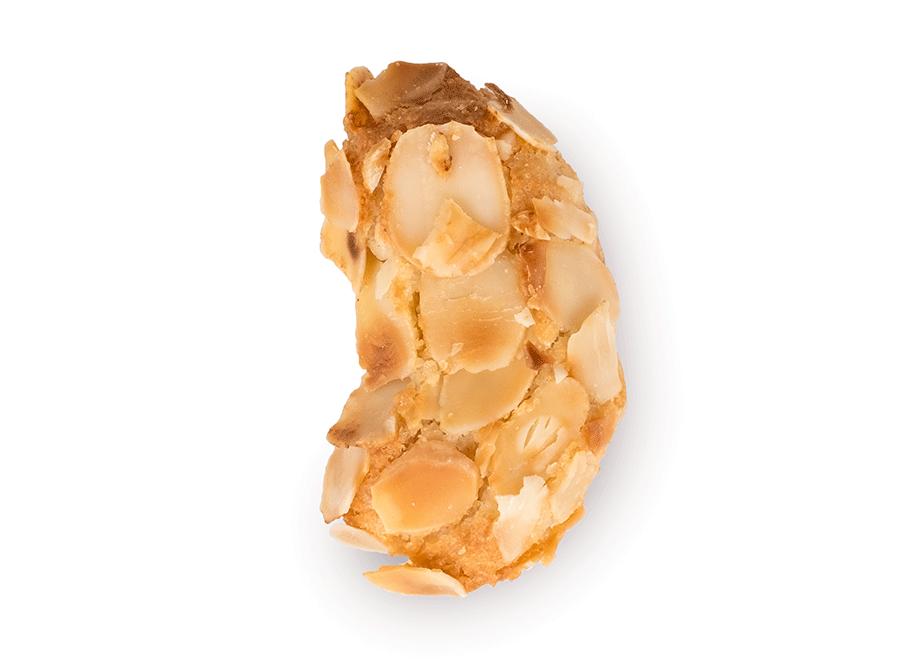 Ricoperto con foglie di mandorle